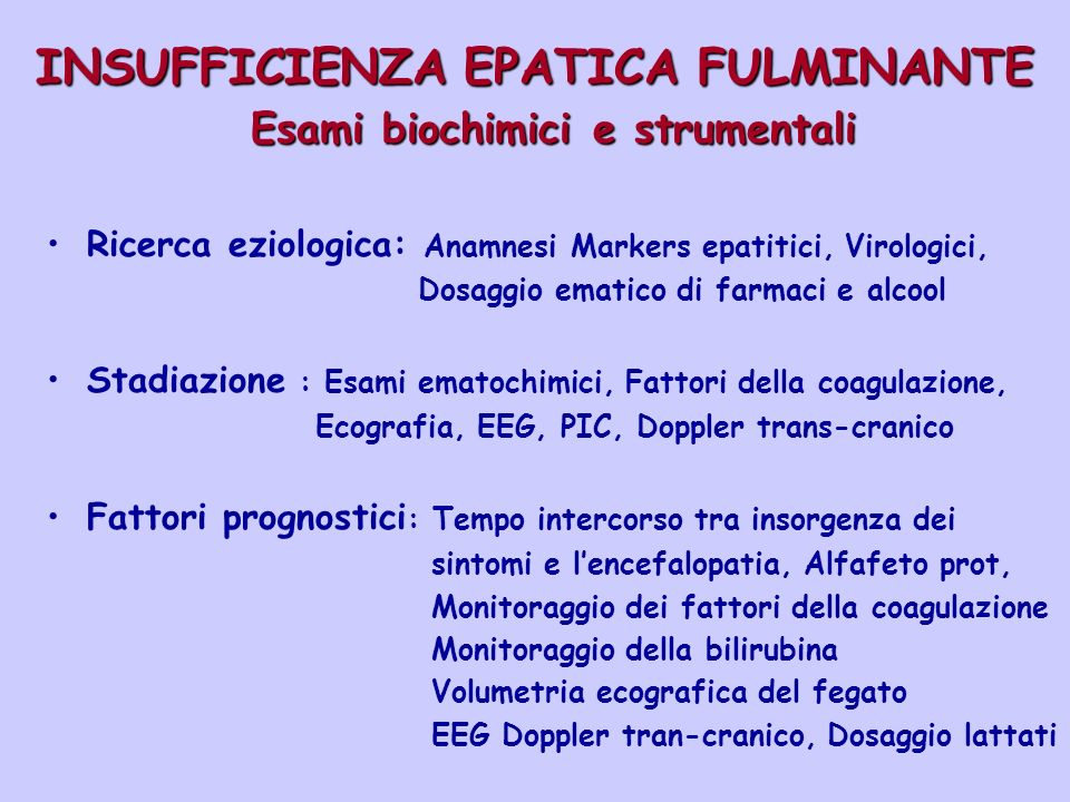 INSUFFICIENZA EPATICA FULMINANTE