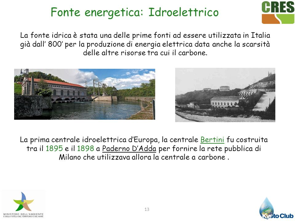 Fonte energetica: Idroelettrico