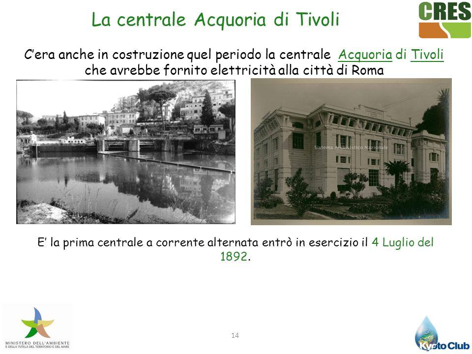 La centrale Acquoria di Tivoli