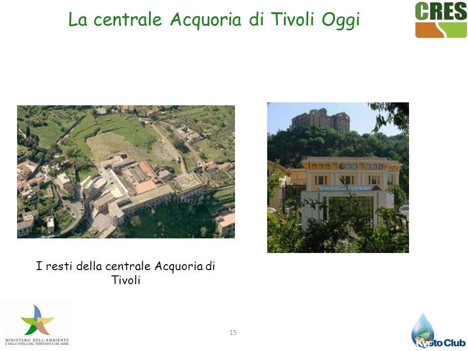 La centrale Acquoria di Tivoli Oggi
