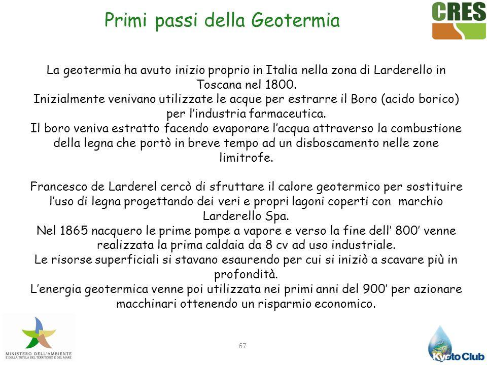 Primi passi della Geotermia