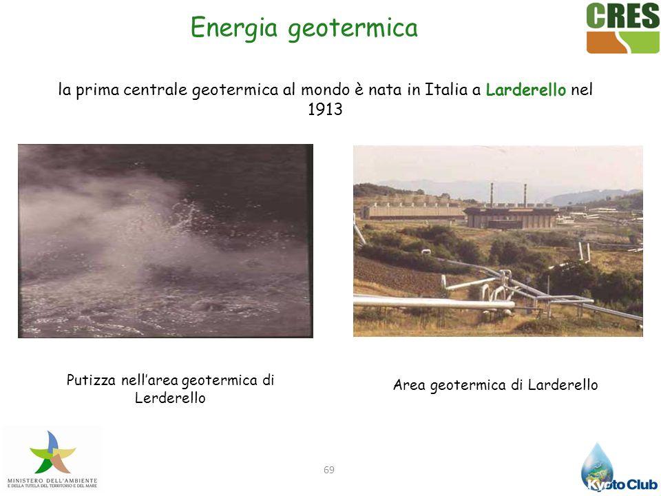Energia geotermica la prima centrale geotermica al mondo è nata in Italia a Larderello nel 1913. Putizza nell'area geotermica di Lerderello.