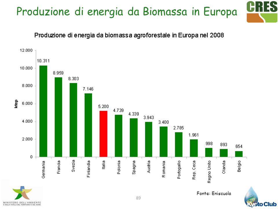 Produzione di energia da Biomassa in Europa