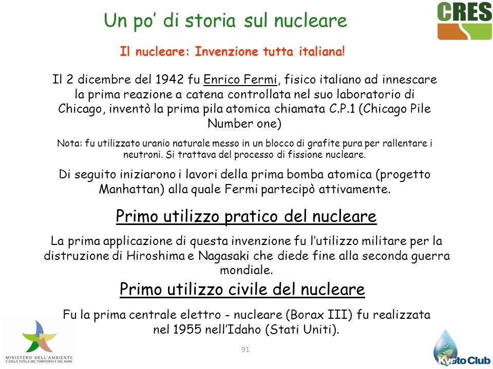 Il nucleare: Invenzione tutta italiana!