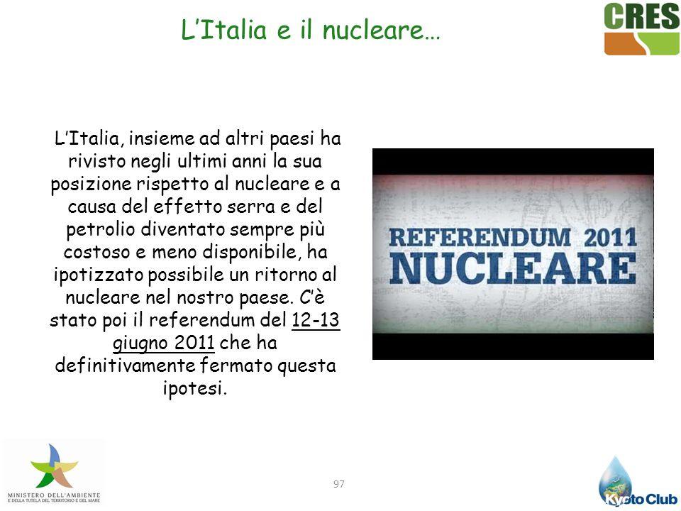 L'Italia e il nucleare…