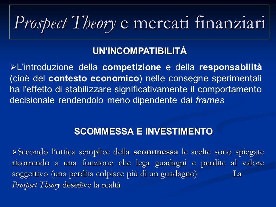 Prospect Theory e mercati finanziari