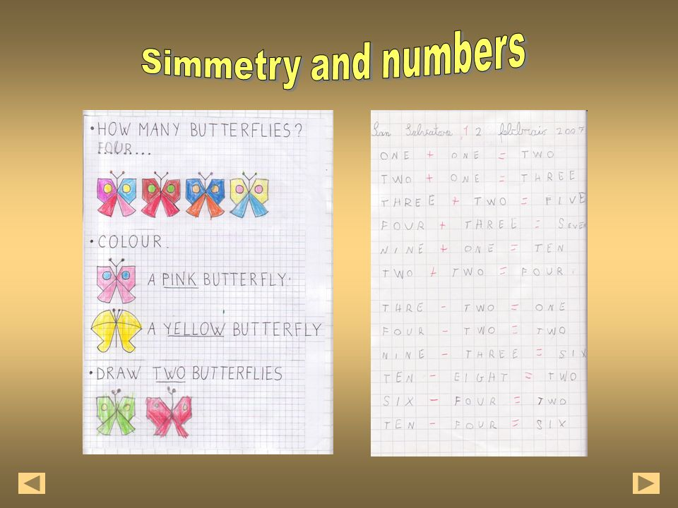 Simmetry and numbers