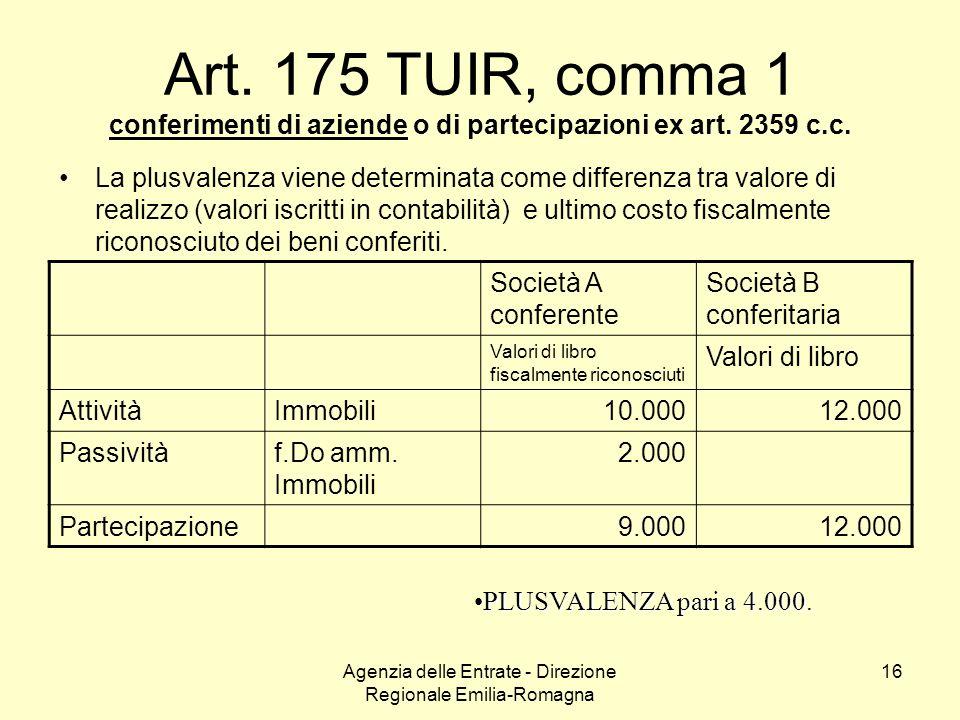 Agenzia delle Entrate - Direzione Regionale Emilia-Romagna