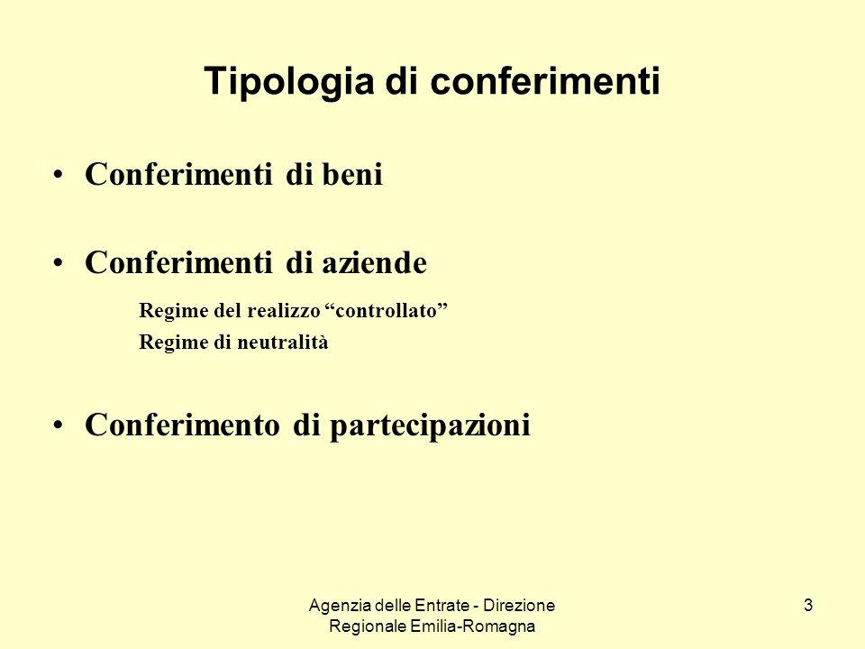 Tipologia di conferimenti