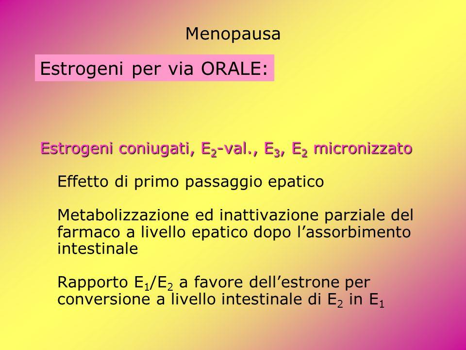 Estrogeni per via ORALE: