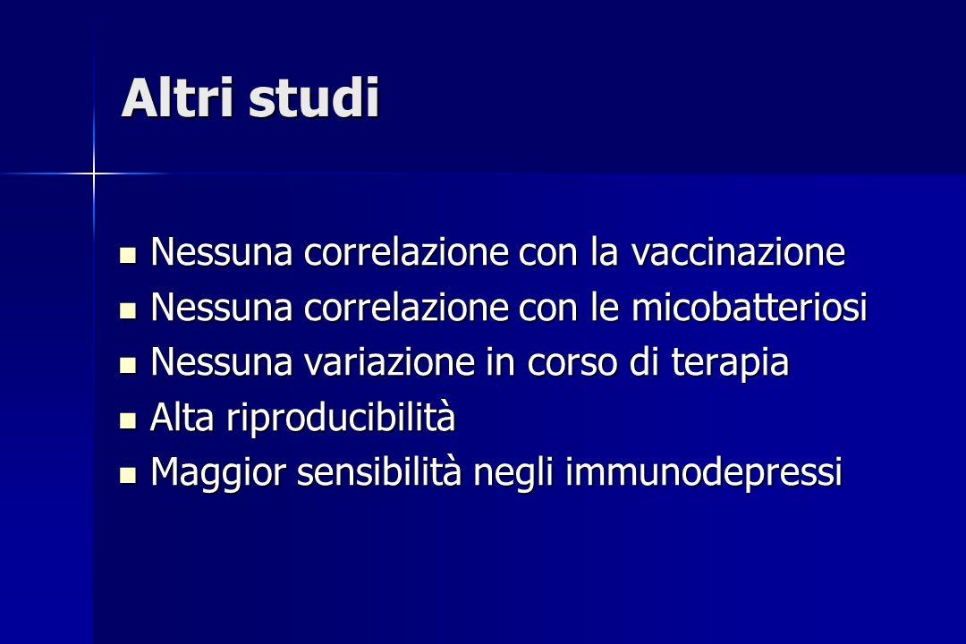 Altri studi Nessuna correlazione con la vaccinazione