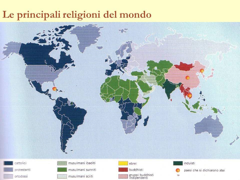 Le principali religioni del mondo