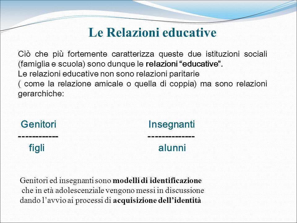 Le Relazioni educative