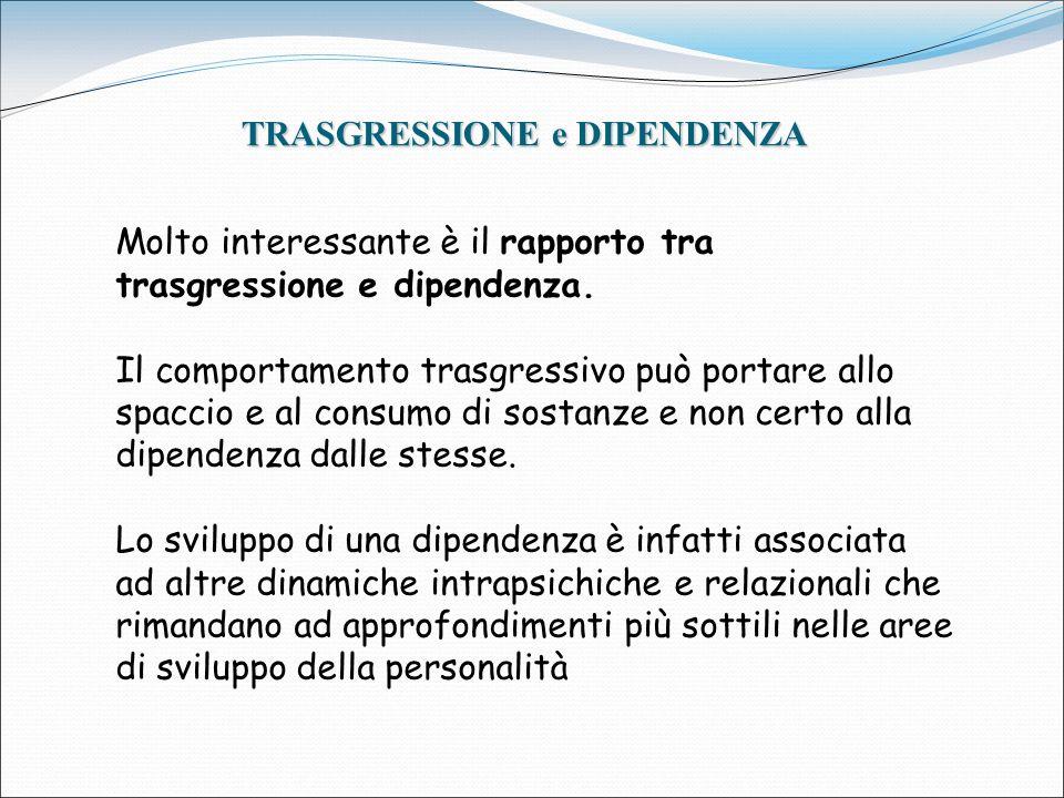 TRASGRESSIONE e DIPENDENZA