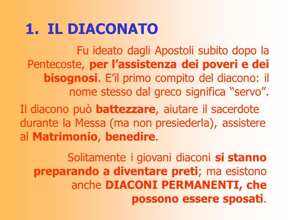 1. IL DIACONATO