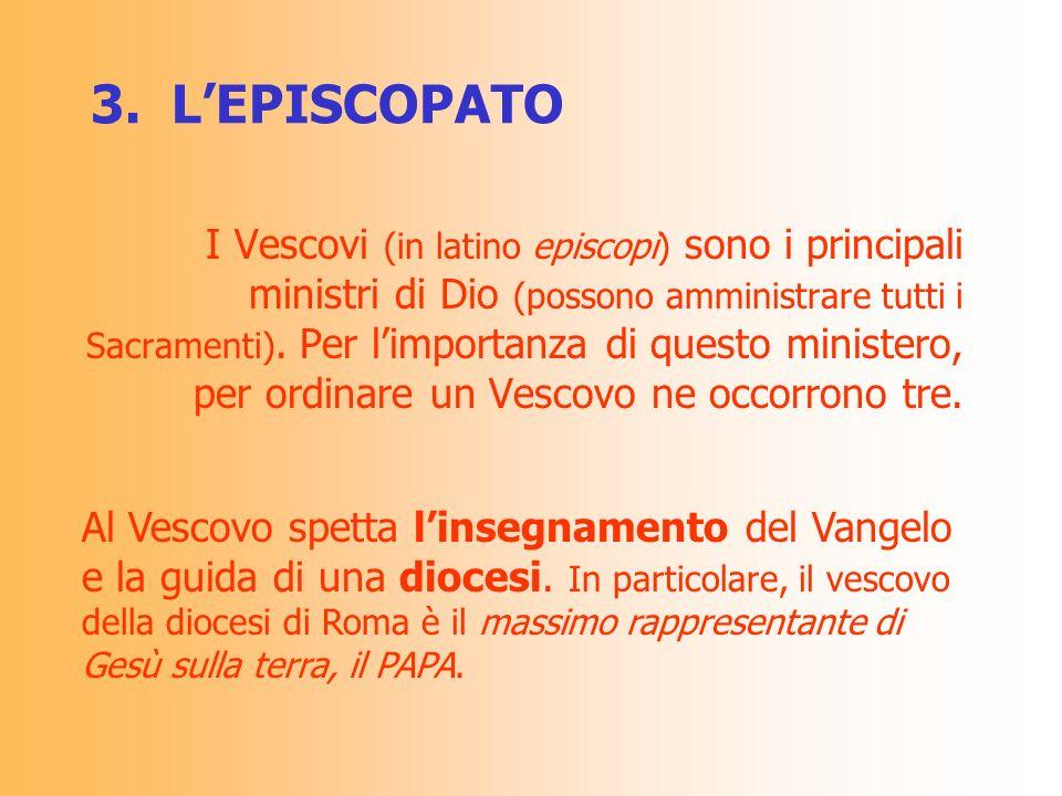 3. L'EPISCOPATO
