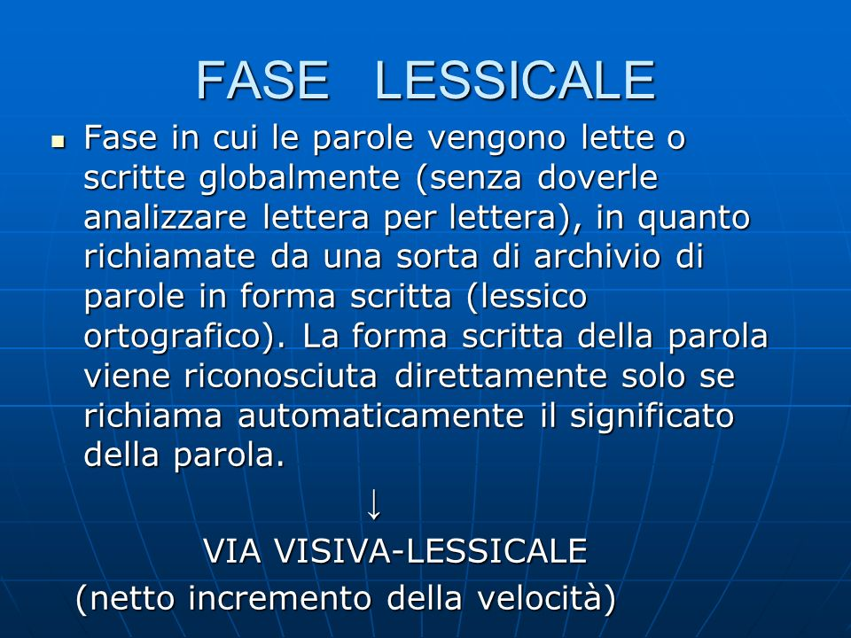 FASE LESSICALE
