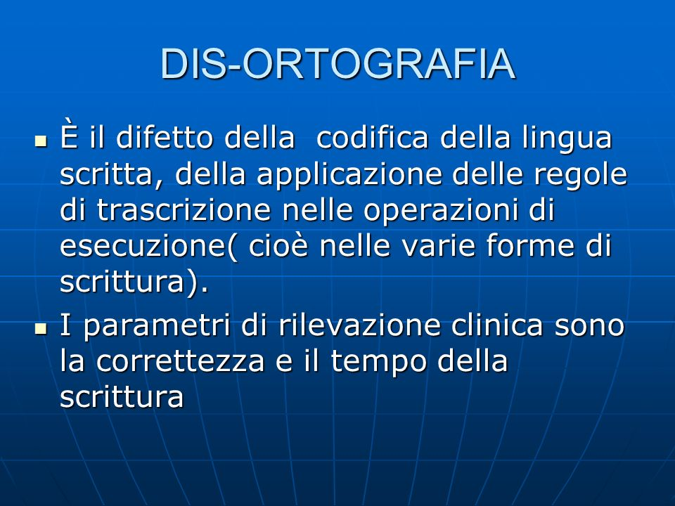 DIS-ORTOGRAFIA