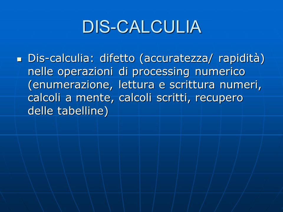 DIS-CALCULIA