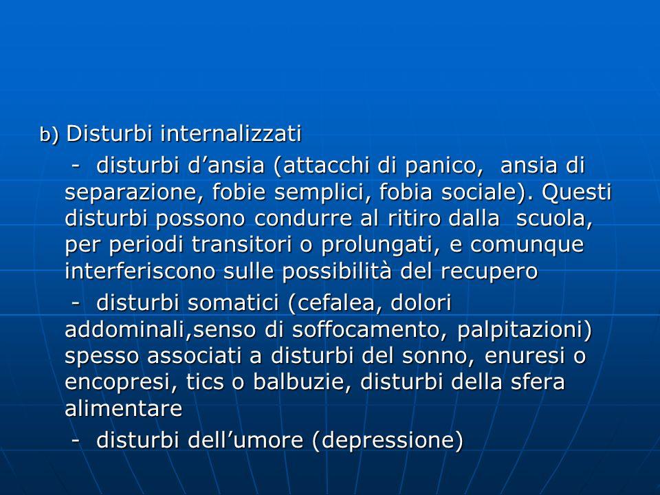 - disturbi dell'umore (depressione)