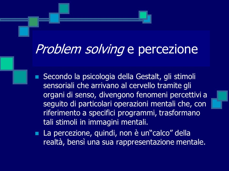 Problem solving e percezione
