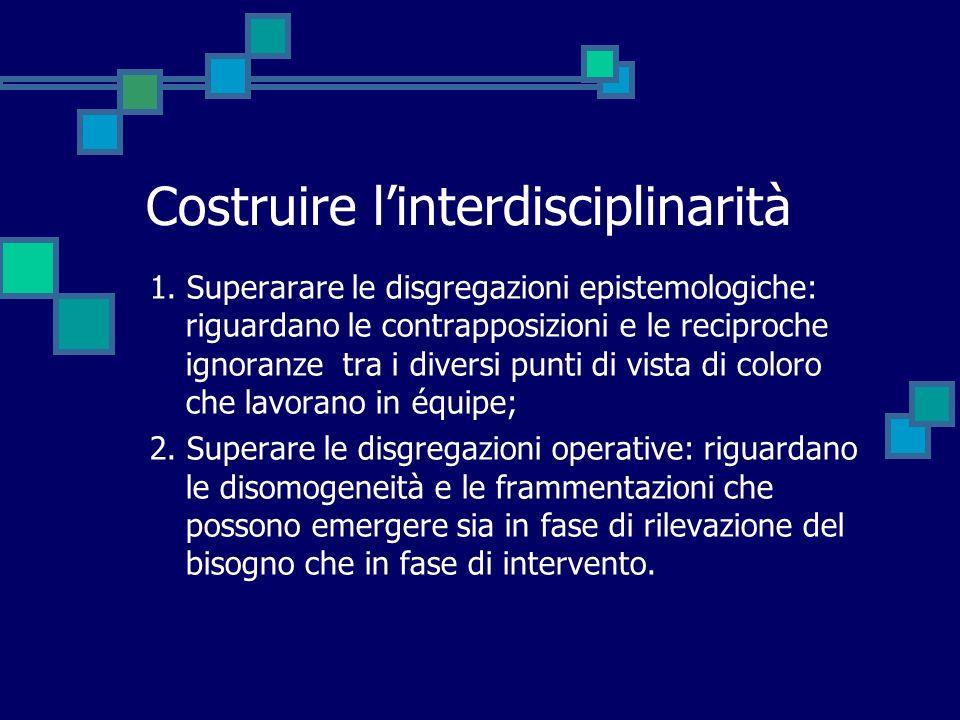 Costruire l'interdisciplinarità