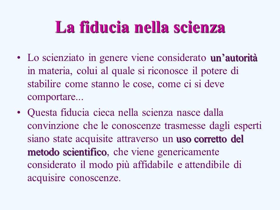 La fiducia nella scienza