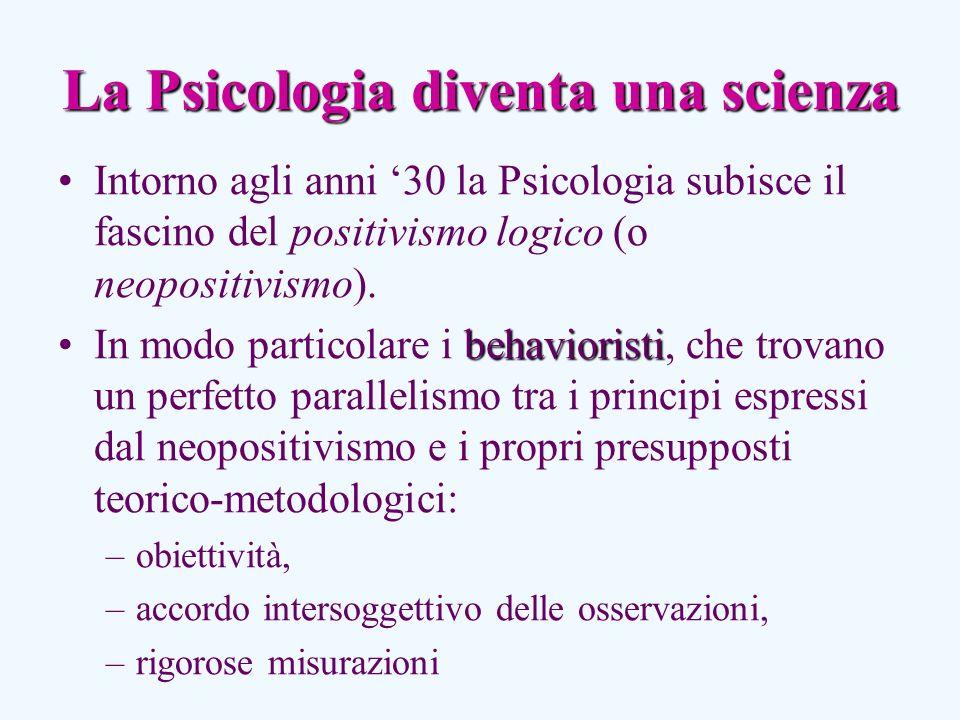 La Psicologia diventa una scienza