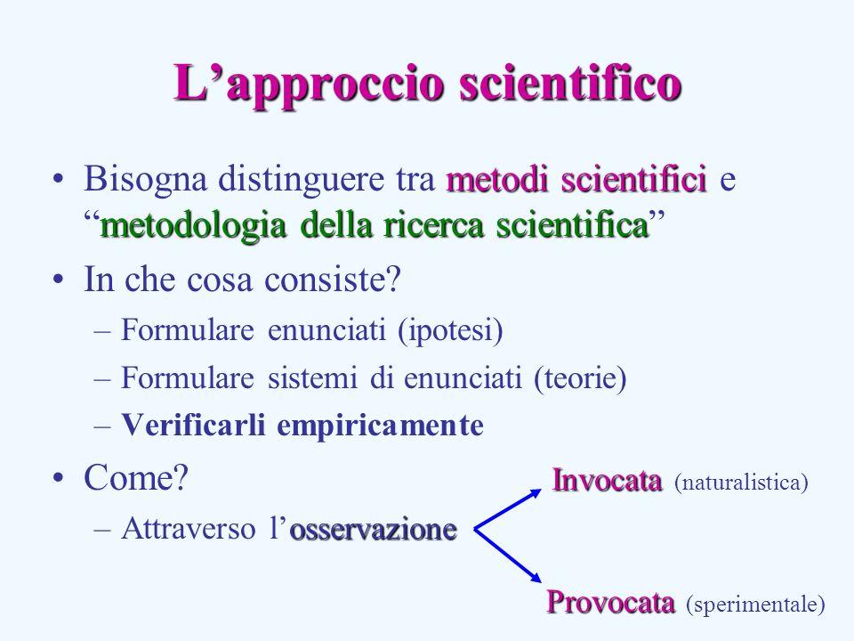 L'approccio scientifico