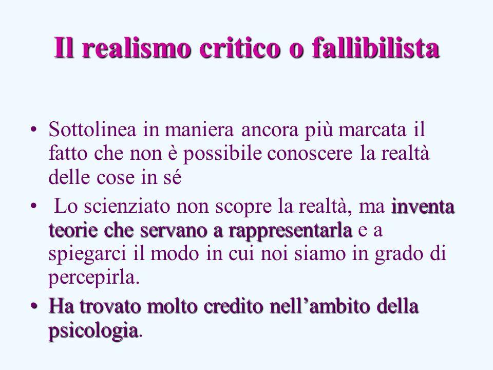 Il realismo critico o fallibilista