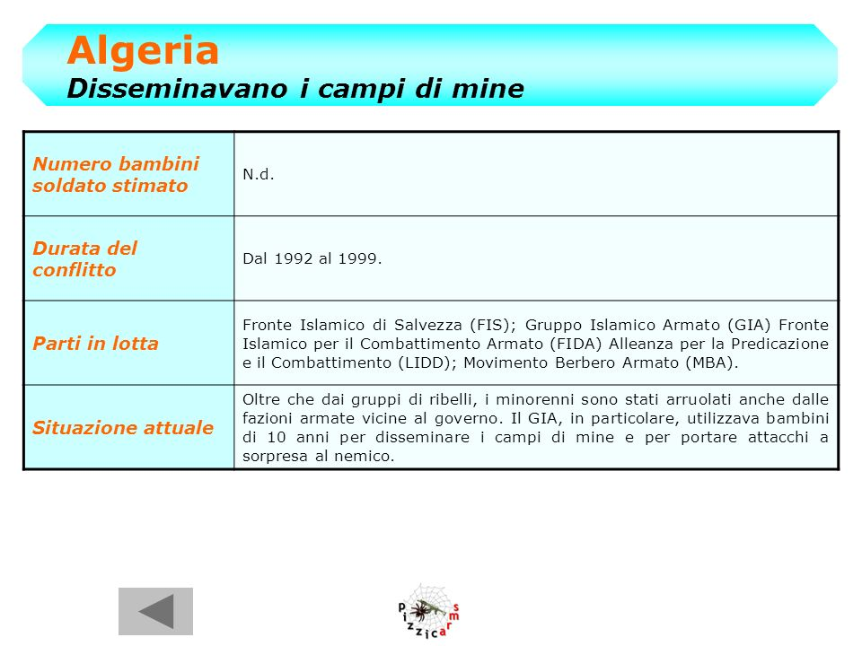 Algeria Disseminavano i campi di mine