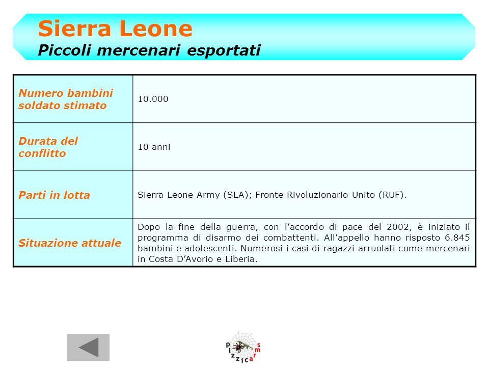 Sierra Leone Piccoli mercenari esportati