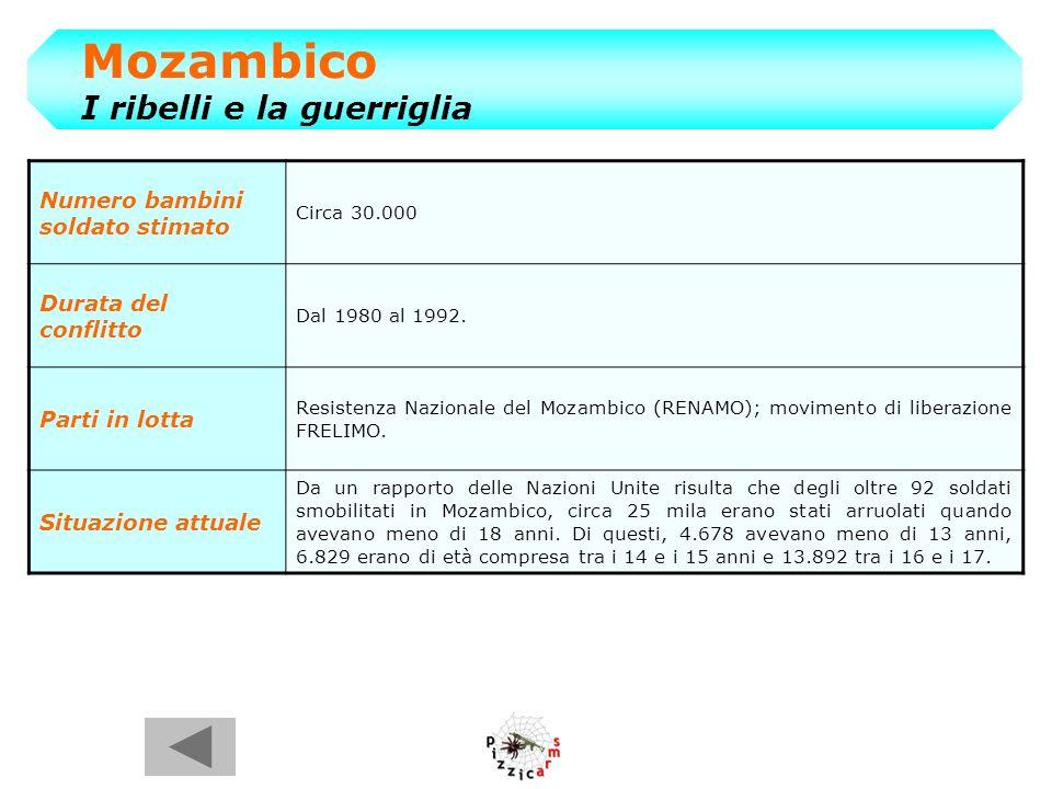 Mozambico I ribelli e la guerriglia