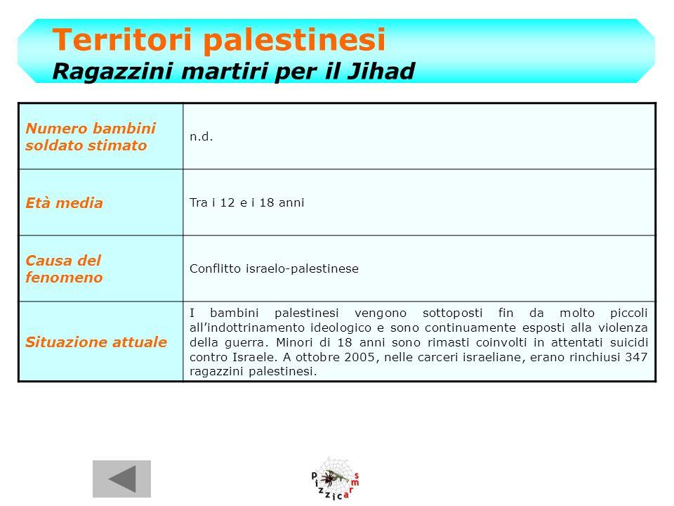 Territori palestinesi Ragazzini martiri per il Jihad