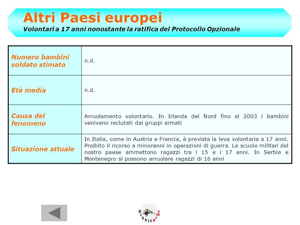 Altri Paesi europei Volontari a 17 anni nonostante la ratifica del Protocollo Opzionale