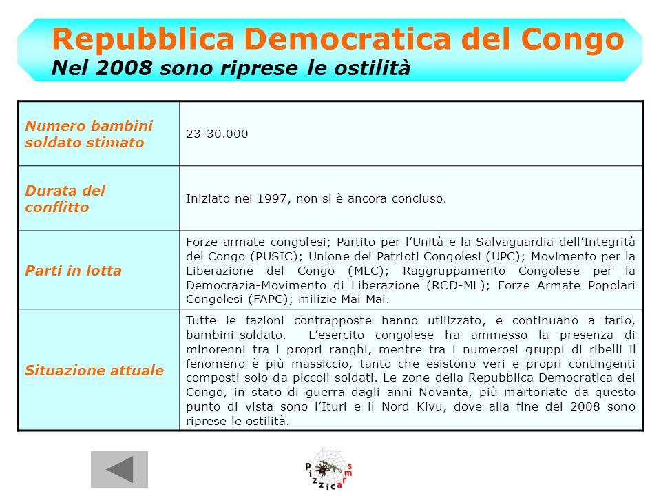 Repubblica Democratica del Congo Nel 2008 sono riprese le ostilità