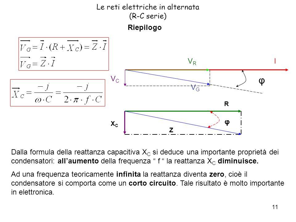 Le reti elettriche in alternata (R-C serie)