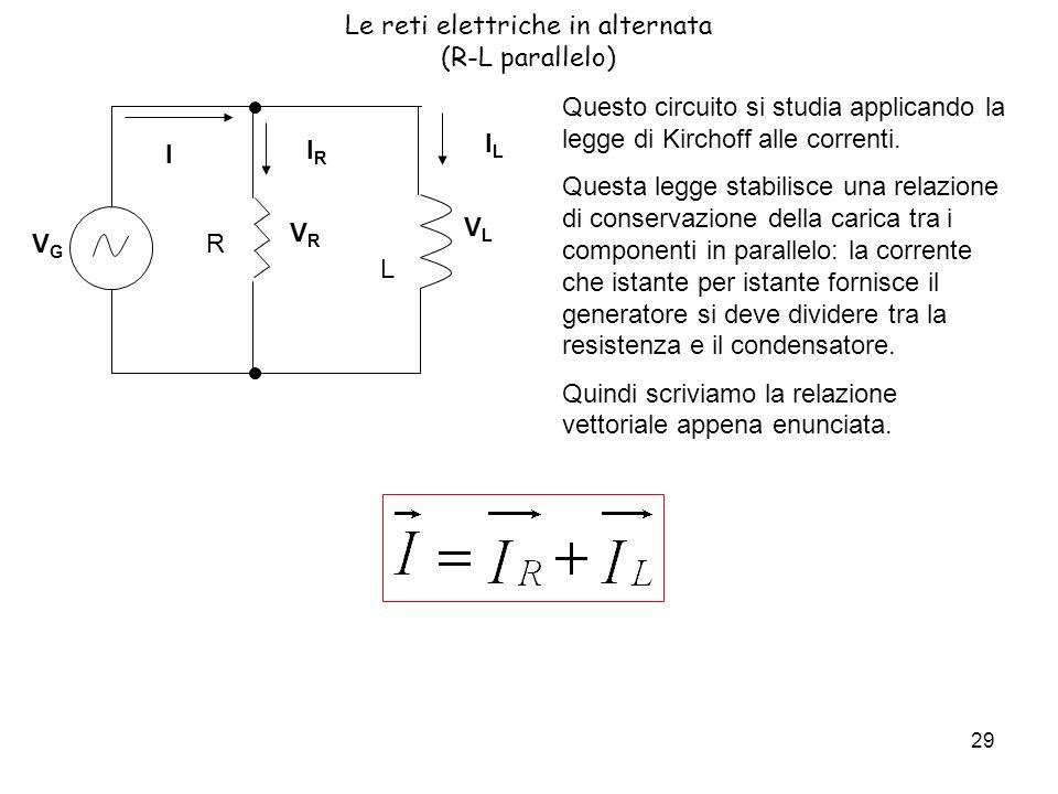 Le reti elettriche in alternata (R-L parallelo)
