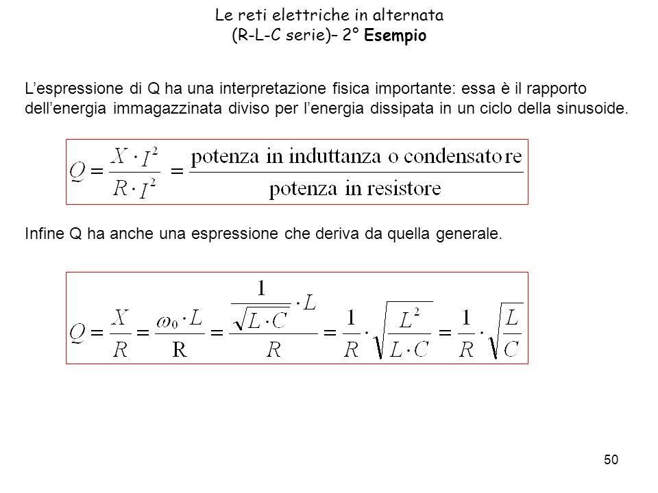 Le reti elettriche in alternata (R-L-C serie)– 2° Esempio