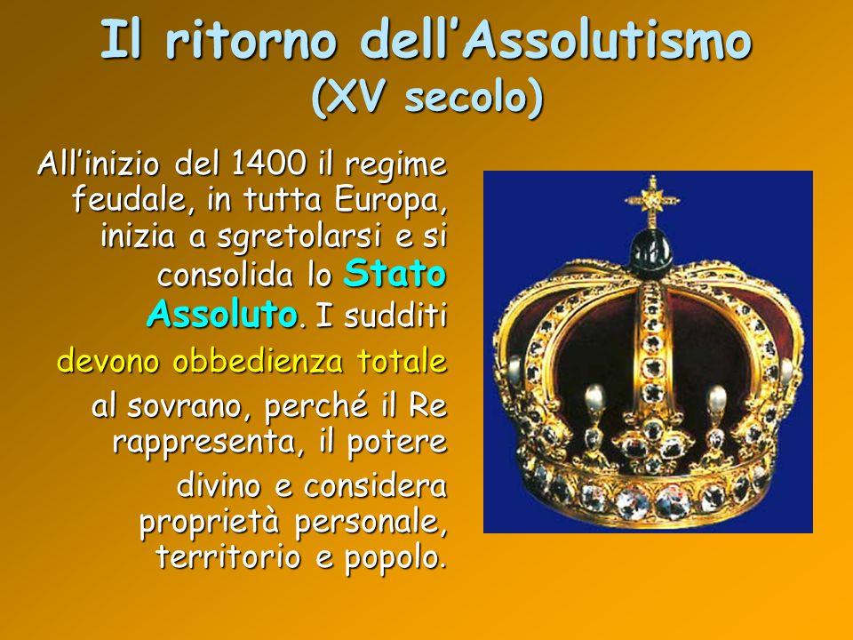 Il ritorno dell'Assolutismo (XV secolo)