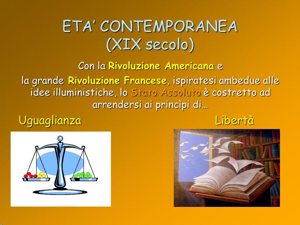 ETA' CONTEMPORANEA (XIX secolo)