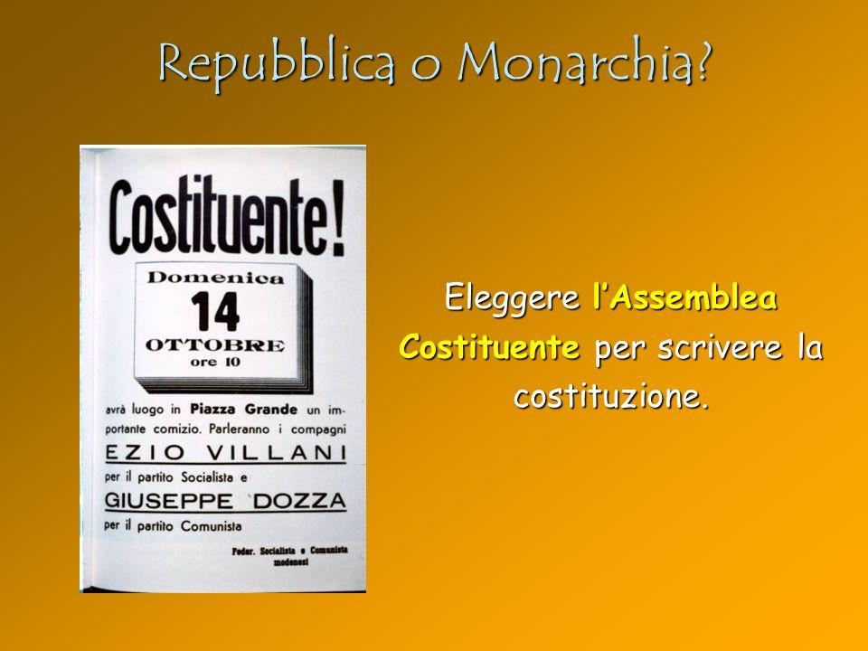Repubblica o Monarchia