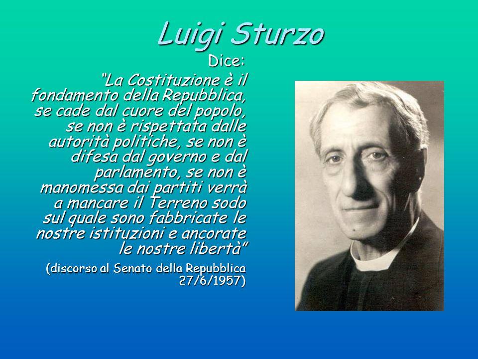 Luigi Sturzo Dice: