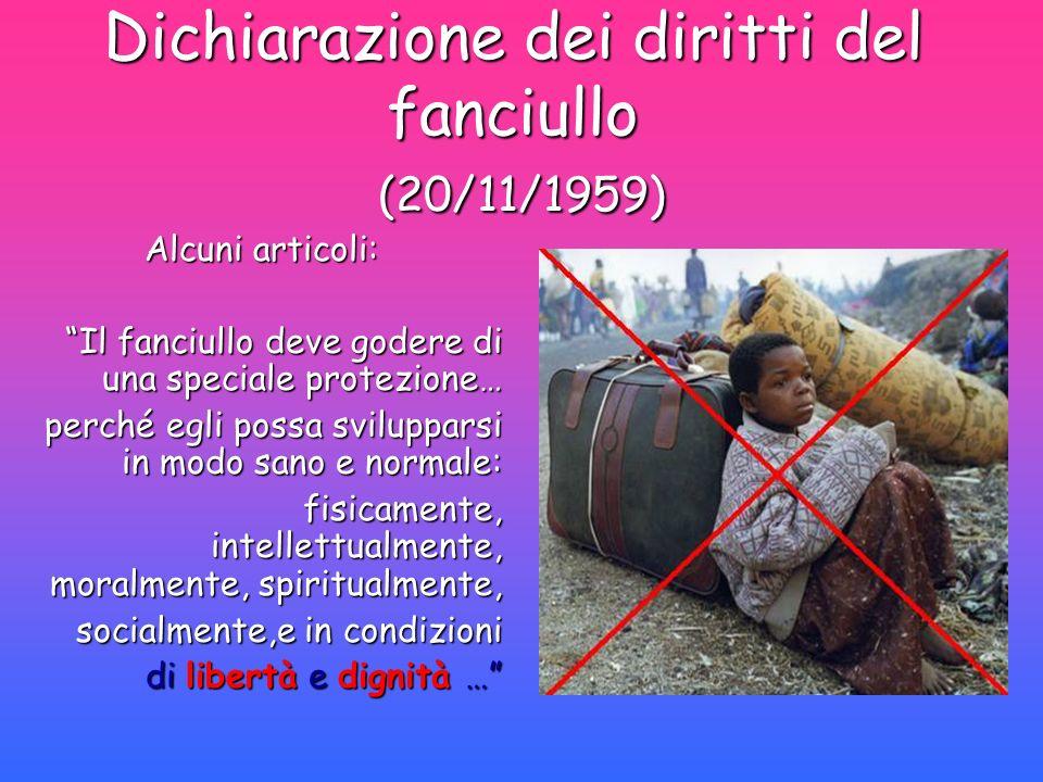Dichiarazione dei diritti del fanciullo (20/11/1959)