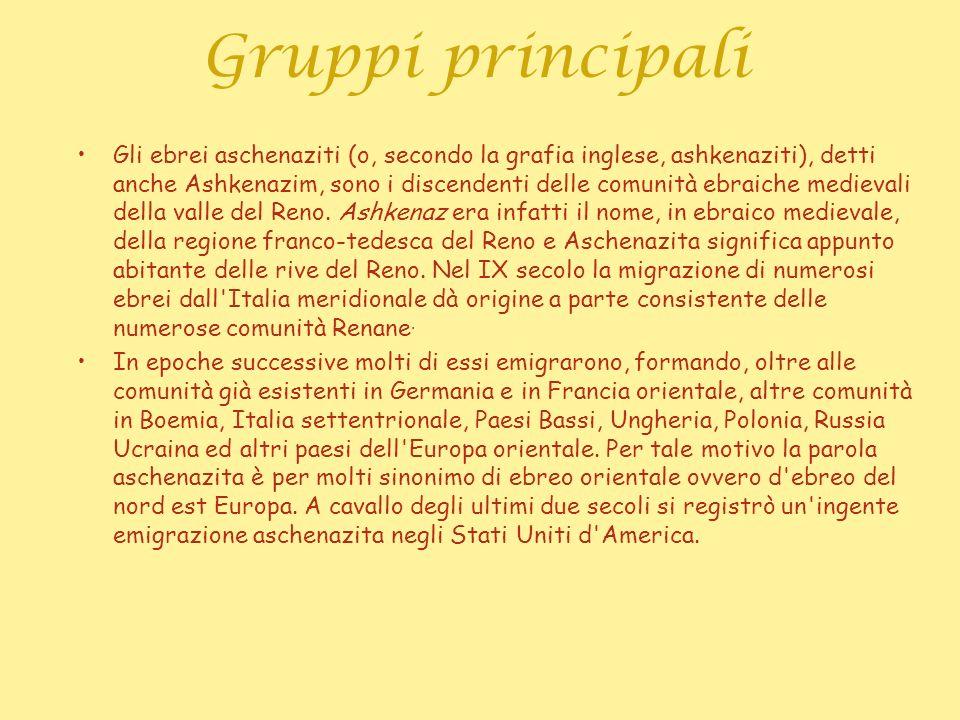 Gruppi principali