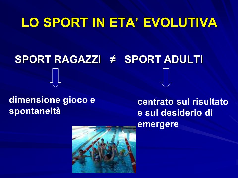 LO SPORT IN ETA' EVOLUTIVA