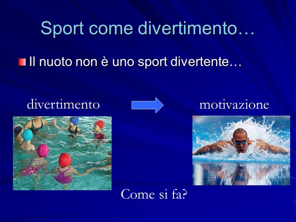 Sport come divertimento…