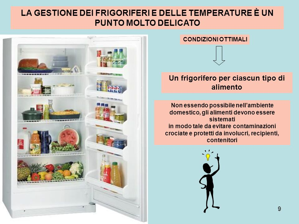 Un frigorifero per ciascun tipo di alimento