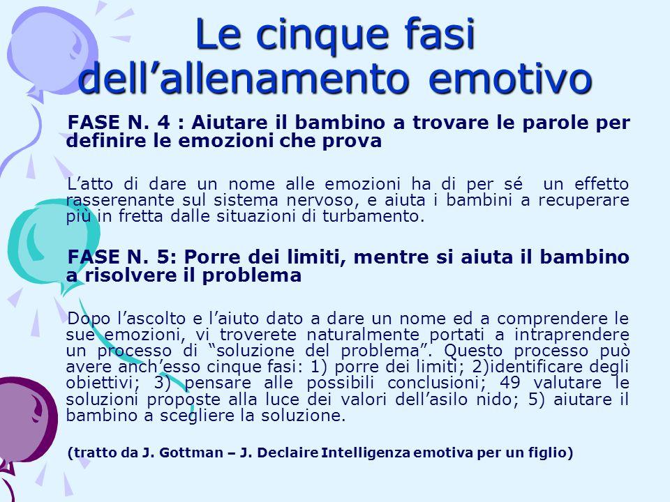 Le cinque fasi dell'allenamento emotivo