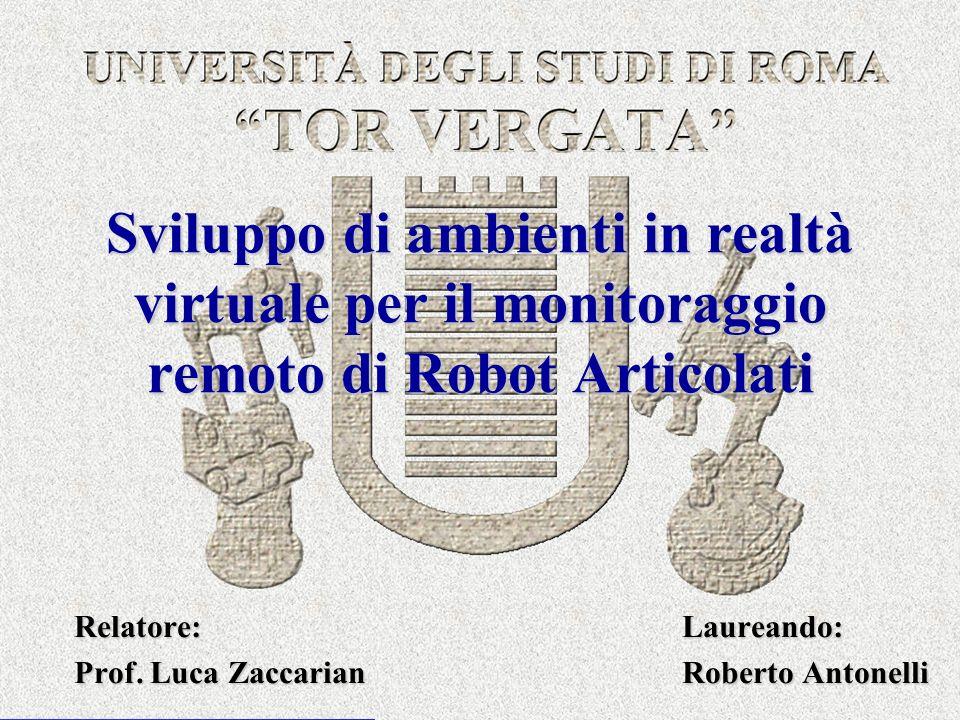 Relatore: Laureando: Prof. Luca Zaccarian Roberto Antonelli
